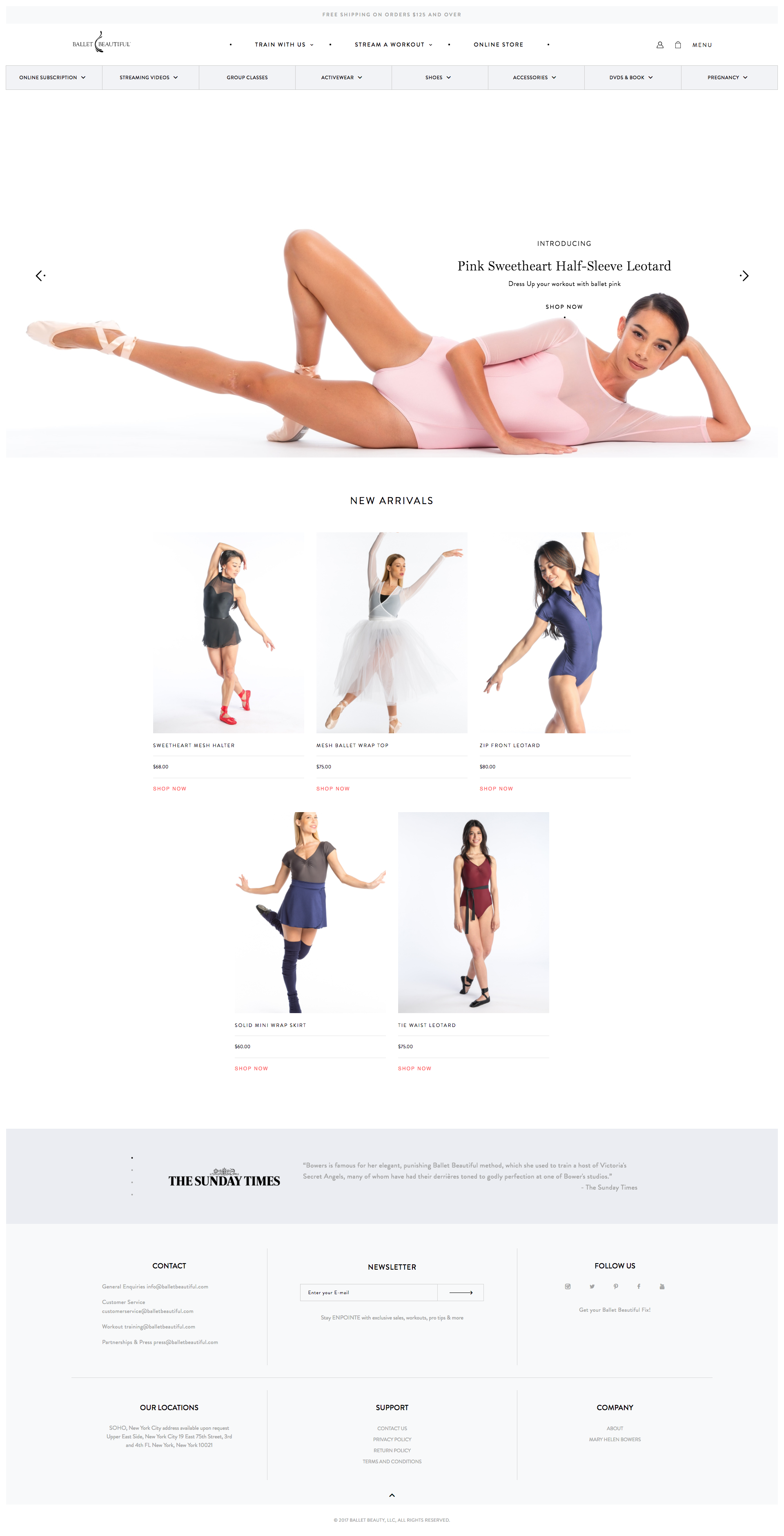 Ballet Beatiful Web Design