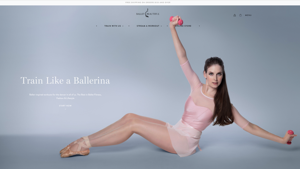 Ballet Beatiful Web Design Preview