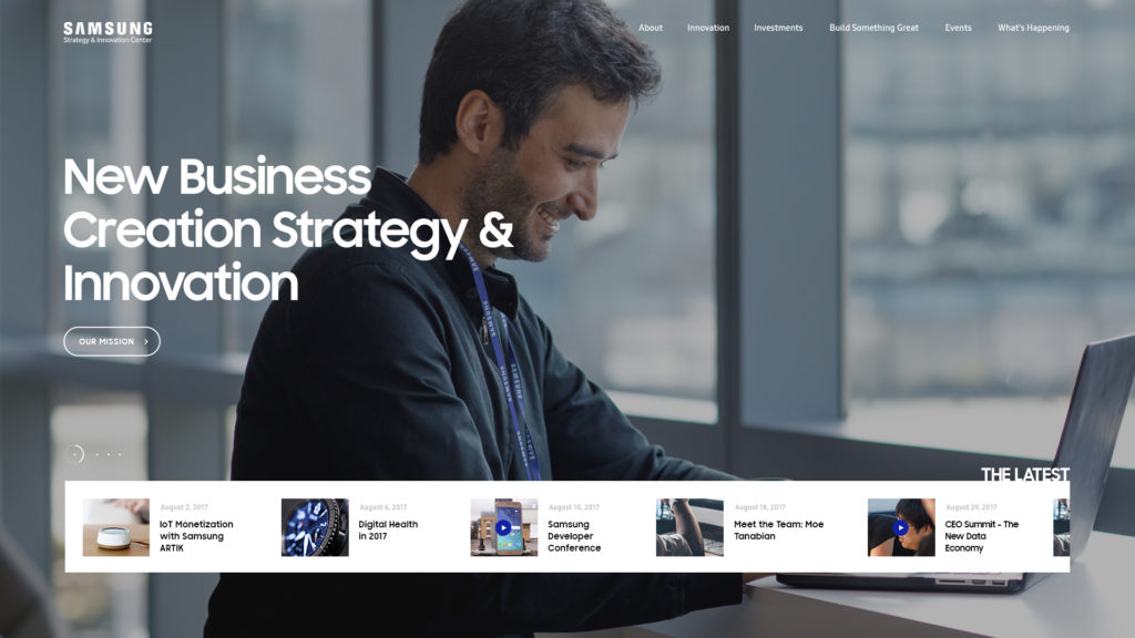 Samsung Strategy & Innovation Center - SSIC Web Design Preview