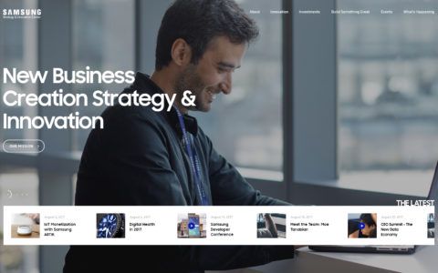 Samsung Strategy & Innovation Center - SSIC Web Development Preview
