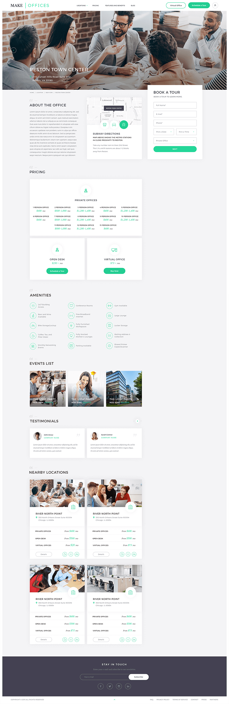 Make offices Page Screenshot