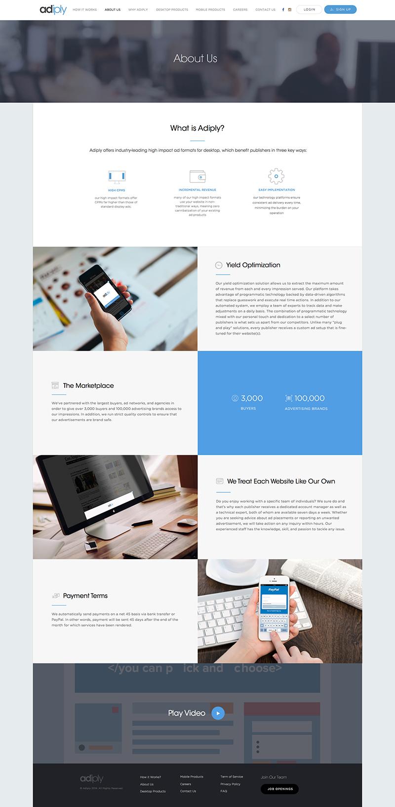adiply Page Screenshot