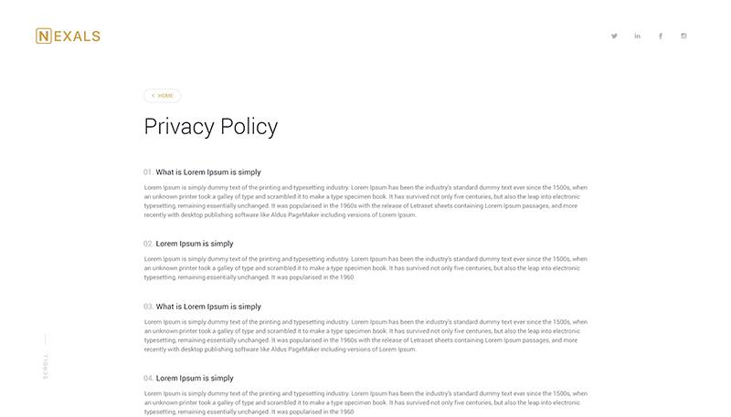 Nexals Page Screenshot