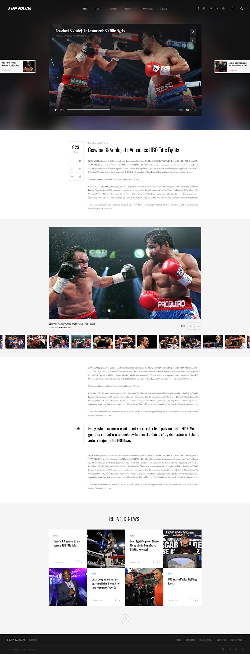TopRank Page Screenshot