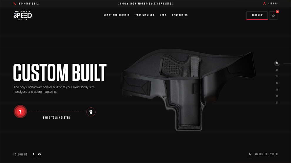 3 Speed Holster Web Design
