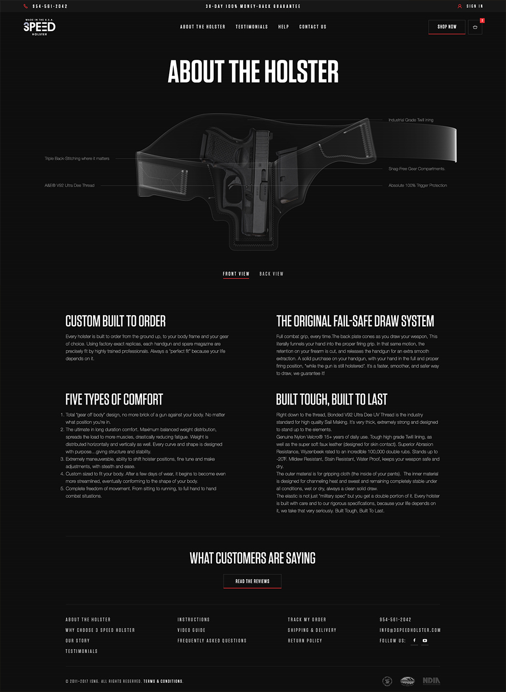 3 Speed Holster Web Design