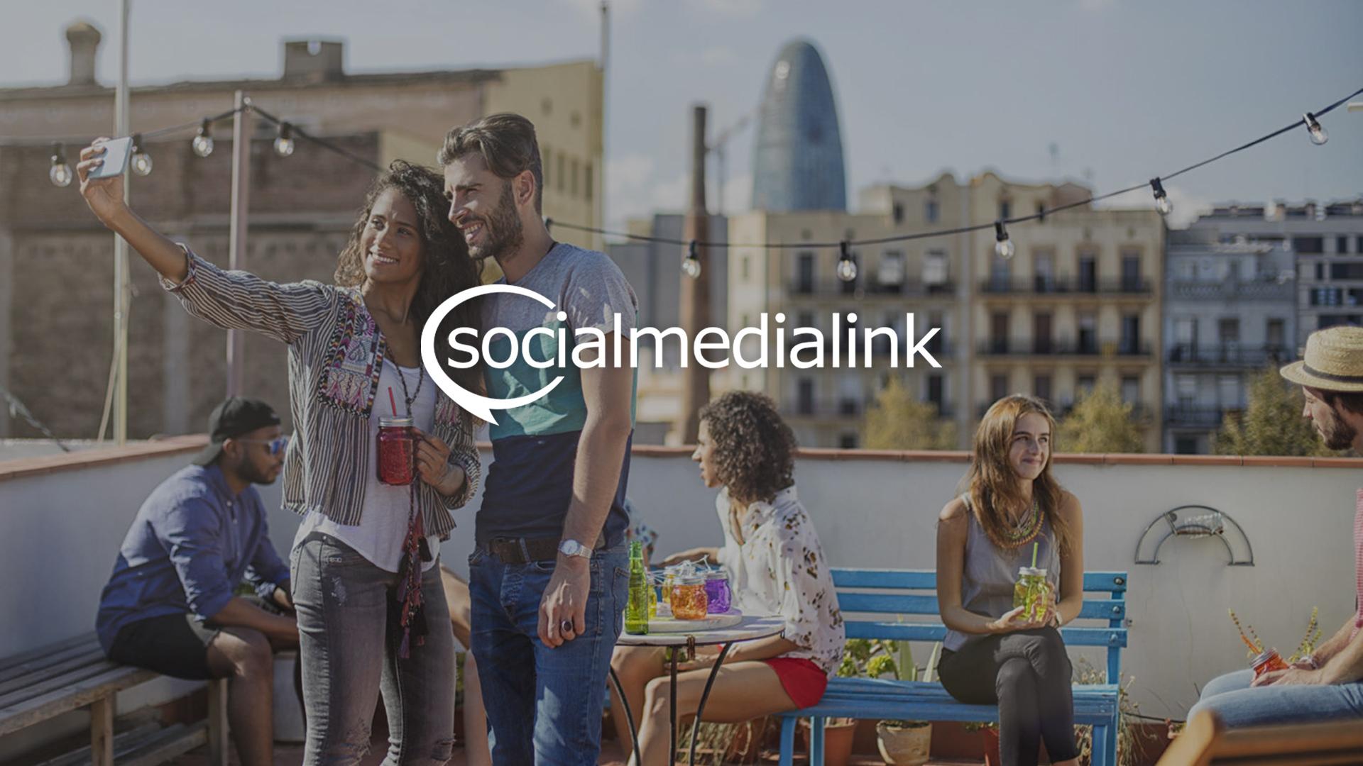 Social Media Link Website Design Preview