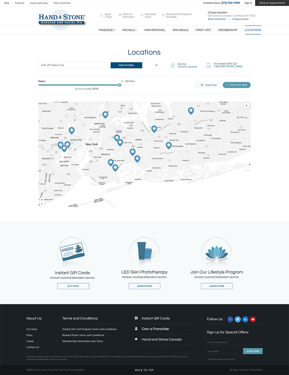 Hand and Stone Web Design