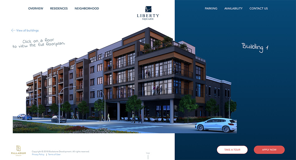 Liberty Square Web Design