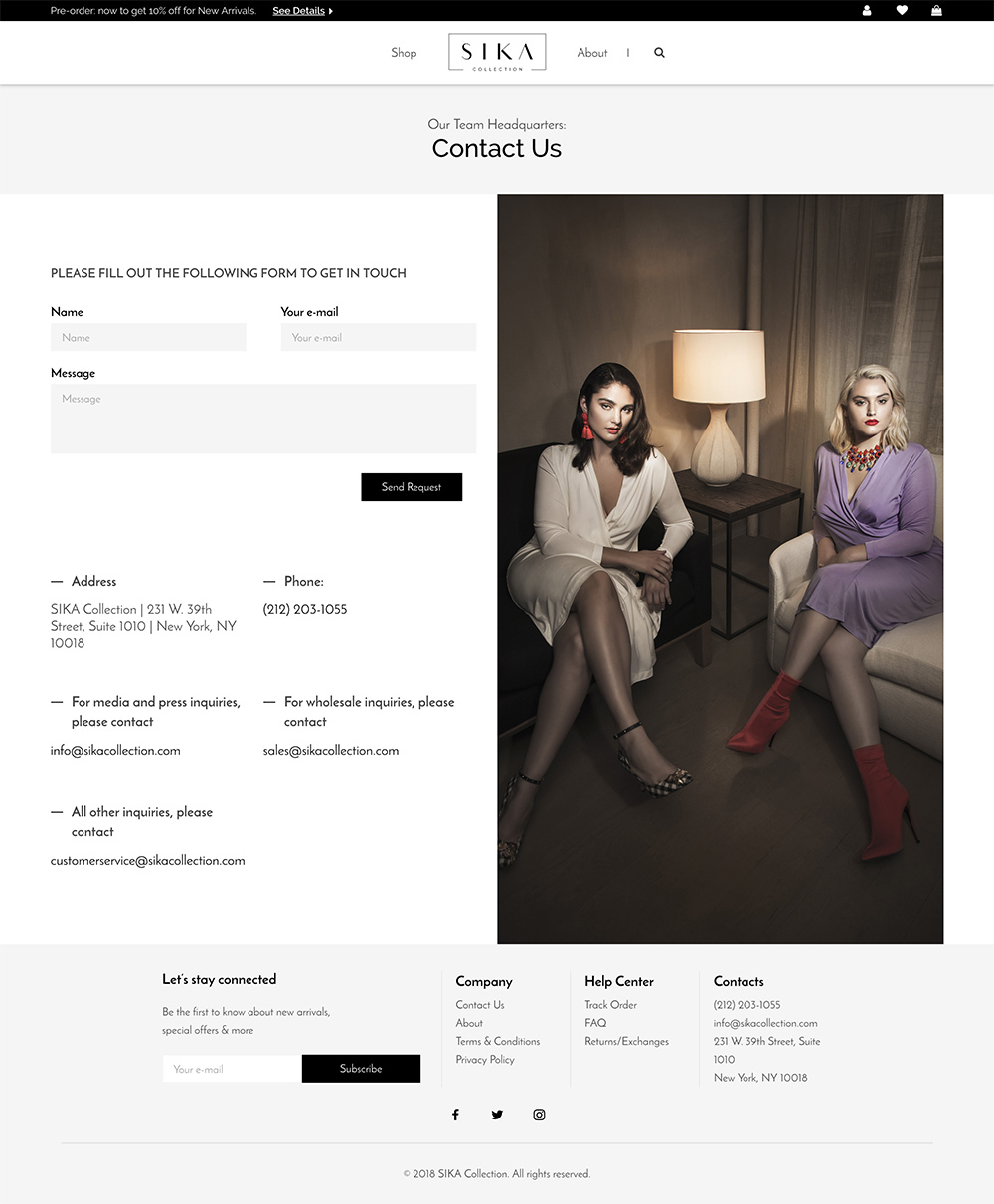 Sika Collection Web Design