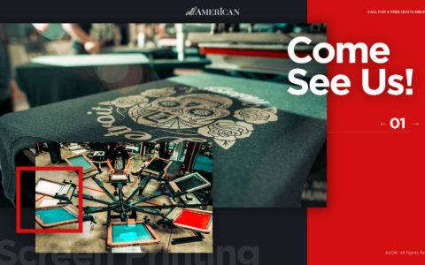 All American Screen Printing & Embroidery Web Development Preview