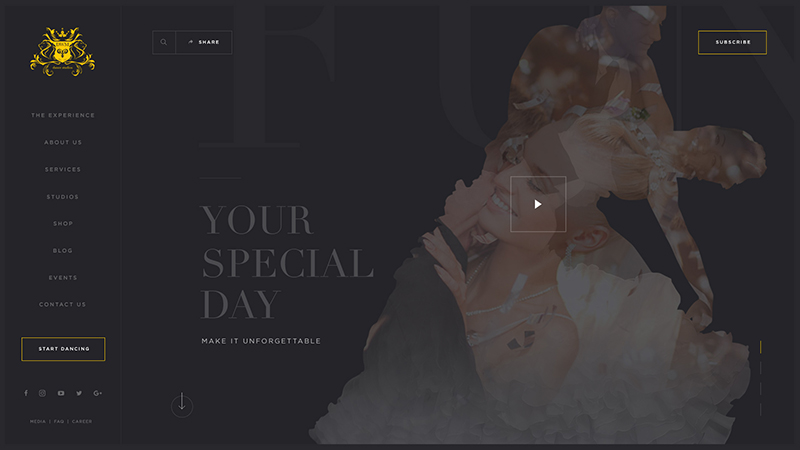 Dance With Me Web Design