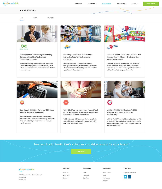 Social Media Link Web Design