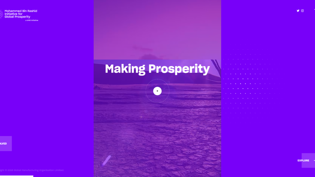Global Prosperity Initiative Web Design Preview
