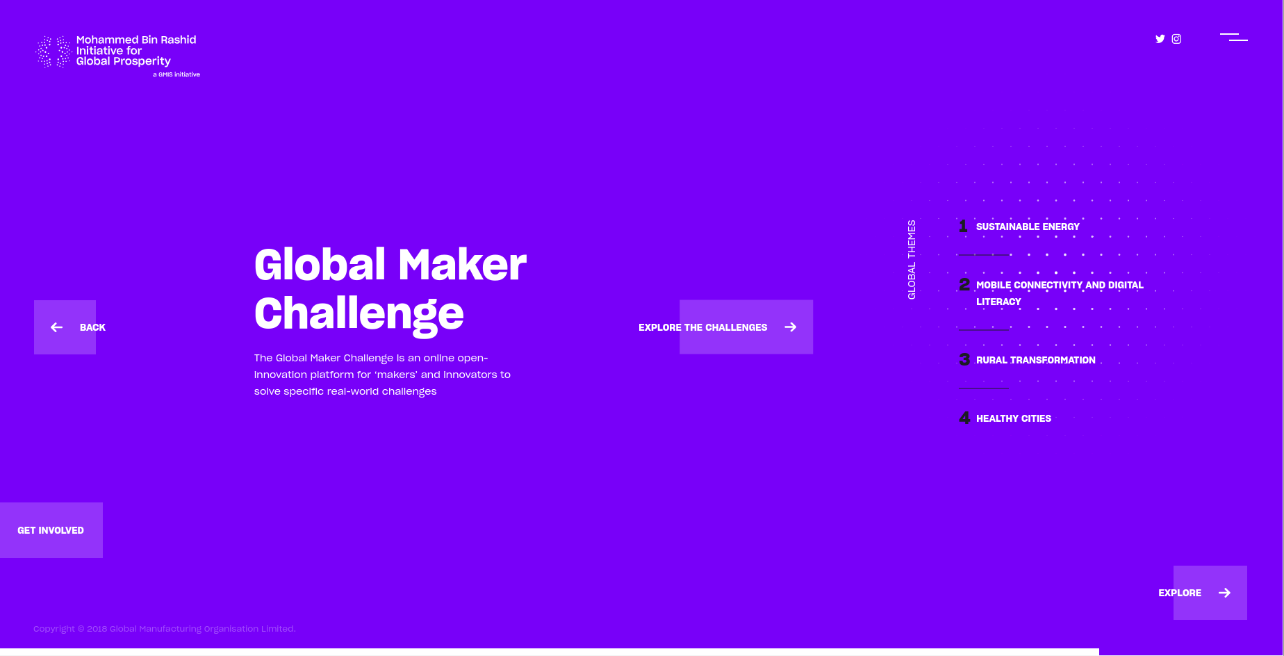 Global Prosperity Initiative Web Design
