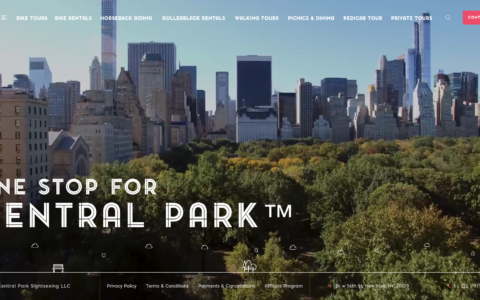 Central Park Sightseeing Web Development Preview