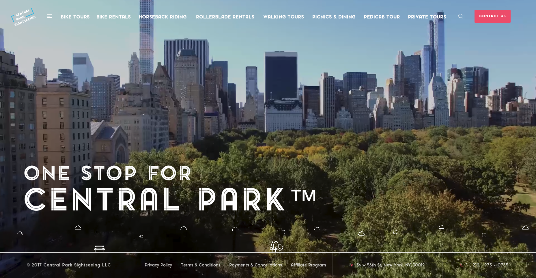 Central Park Sightseeing Website Design Preview