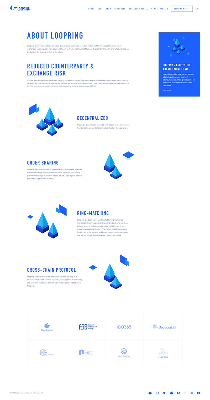 Loopring Web Design