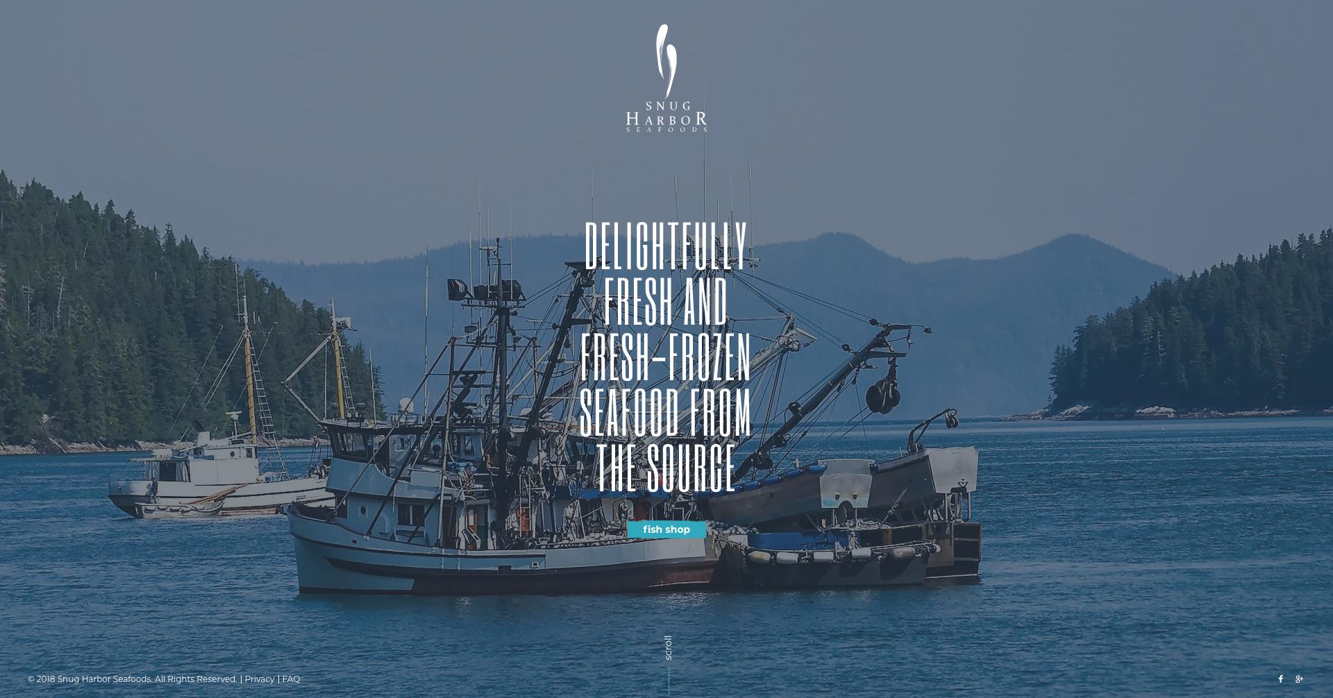 Snug Harbor Website Design Preview