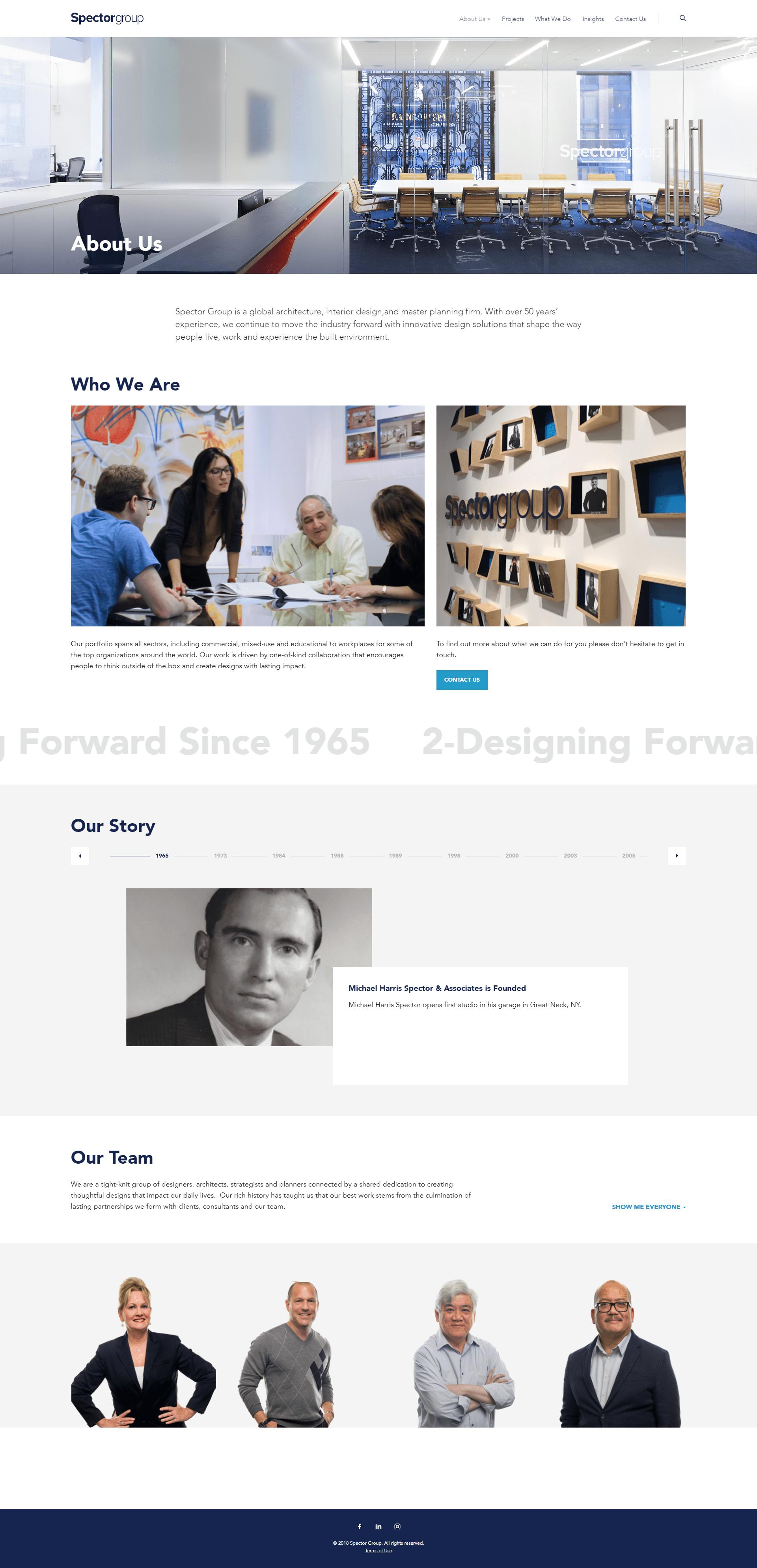 Spector Group Web Design